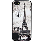Creative Fine Pattern Black Frame Back Cover Case for iPhone 5/5S(Assorted Colors)