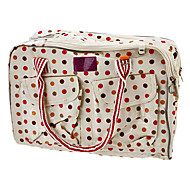 Multi-pockets Colorful Flowers Dot Pattern Portable Type Pet Carrier Bag for Dogs Cats