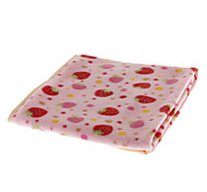 Pink Strawberry Pattern Pet Blanket for Dogs Cats (70 x 70cm)