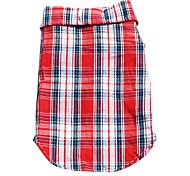 Cani T-shirt / Maglietta Rosso / Blu Primavera/Autunno A quadri