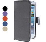 Protective PU Ledertasche mit Ständer und Card Slot für Samsung Galaxy S3 I9300 (verschiedene Farben)