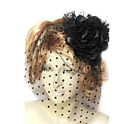 Women's Lace / Tulle / Cotton / Flannelette Headpiece-Wedding / Special Occasion Fascinators