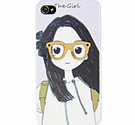 Cartoon Girl Pattern Hard Case for iPhone 4/4S