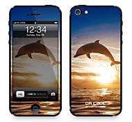 """Codice Da ™ Pelle per iPhone 4/4S: """"Dolphine"""" (serie animali)"""