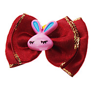 Lovely Rabbit Decorated Bowknot Style Pet Rubber Band for Dogs Cats (Assorted Color)