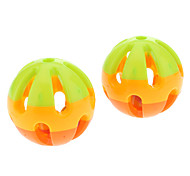 Three-Color Plastic Lovely Rolling Bell Ball for Pets Dogs (2-Piece)