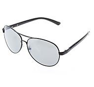 Unisex Gray Lens Black Frame Pilot Sunglasses