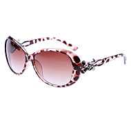 Woman's Flower Pattern Plastic Sunglasses