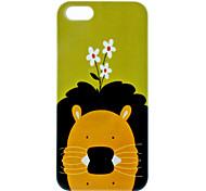 caso duro del patrón del león de 5/5s iphone