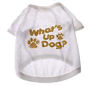 Dog T-Shirt Summer - White Cotton