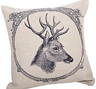 Traditionnel cerf Coton / Lin Coussin décoratif