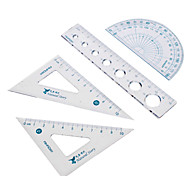 Triangular Rule Protractor Rulers Set Portable Package (Random Color)