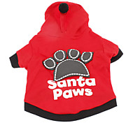 Dog Hoodie Red / Black Winter Letter & Number