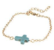 Крест и бирюзовый браслет