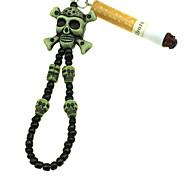 Schädel geformt Schlüsselbund mit Zigarette (Random Farbe ,2-teiliges Set)