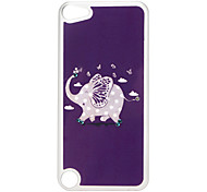 Adorável Elephant Pattern Hard Case com strass para iPod Touch 5