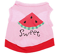 Pure Cotton Watermelon Pattern Vest for Dogs (XS-L)