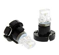 Ampoule pour lampe de bord de voiture (12V DC, 1 paire) T3 lumière froide LED blanche