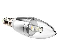 Lâmpada Vela Decorativa E14 1 W 90 LM 3000K K Branco Quente 1 LED de Alta Potência AC 85-265 V C