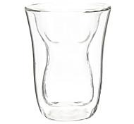 corps mince en forme de verre à double paroi de la bière