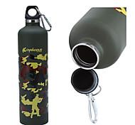 Aço inoxidável portátil Sports garrafa (750 ml)