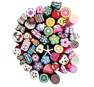 50pcs 3D Cane Stick Rod Sticker Nail Art Decorations(Random Color)