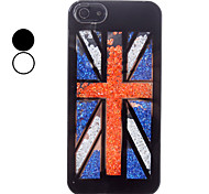 UK Flag Pattern Hard Case with Colorful Rhinestone for iPhone 5/5S (Assorted Colors)