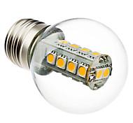 3W E26/E27 Bombillas LED de Globo G45 18 SMD 5050 230 lm Blanco Cálido AC 100-240 V