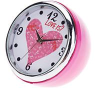 "1"" Mini Analog Quartz Desktop Clock (Pink, 1xButton Battery)"