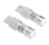7443 12W White Light Cree LED Bulb for Car Brake/Reversing Lamp (DC 12-24V, 1-Pair)