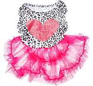 Dog Dress Pink Dog Clothes Summer / Spring/Fall Hearts Fashion