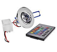 3 W 1 High Power LED LM RGB/Color-Changing Remote-Controlled Ceiling Lights AC 85-265 V