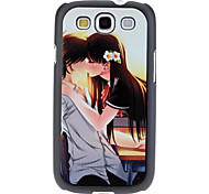 Kissing Couple Pattern Hard Case für Samsung Galaxy S3 I9300