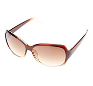 Women's Gradient Brown Lens Brown Frame Cat Eye Sunglasses