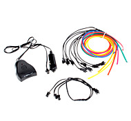 6 Meter Flexible Car Decorative Neon Light 4mm EL Wire Rope with Sound Activated