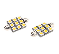 Festoon Car Warm White 1.5W SMD 5050 3000-3500 Reading Light