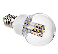 6W E26/E27 Ampoules Globe LED G60 47 SMD 5050 530 lm Blanc Chaud AC 100-240 V