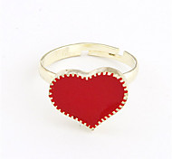 Cute Alloy Acrylic Heart Pattern Ring (Assorted Colors)
