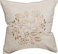 Embroidery Linen Decorative Pillow Cover - Three Colors Available