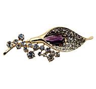 Alloy elegante com o broche de cristal Mulheres