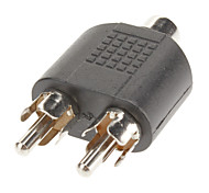 Cinch auf 2 RCA F / M Adapter