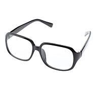 Unisex Transparent Lens Square Eyeglasses (Random Color)