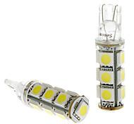T10 2.5W 12x5050SMD luce bianca LED della lampadina per Car Targa / Girare lampade di segnalazione (DC 24V, 1-Pair)
