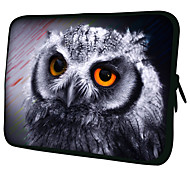 """Gray Owl""Pattern Nylon Material Waterproof Sleeve Case for 11""/13""/15"" Laptop&Tablet"