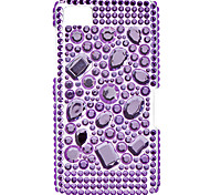 Purple Diamond Pattern Hard Case with Rhinestone for Blackberry Z10