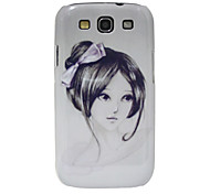 Black & White Girl Pattern Hard Case für Samsung Galaxy S3 I9300