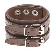 Men's Double Belt Leather Bracelet