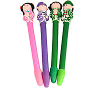 Chinese Princess & Prince Polymer Clay Pen (2PCS Random Color)