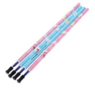 4 Pack Snowman Pattern Gel Pen Refills (Assorted Color)