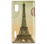 For LG Case Pattern Case Back Cover Case Eiffel Tower Hard PC LG